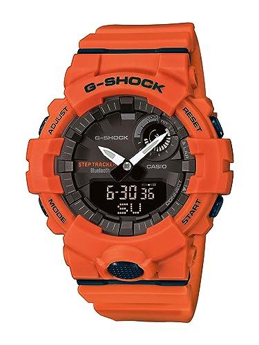 CASIO Reloj Analógico-Digital para Hombre de Cuarzo con Correa en Resina GBA-800-4AER: Amazon.es: Relojes