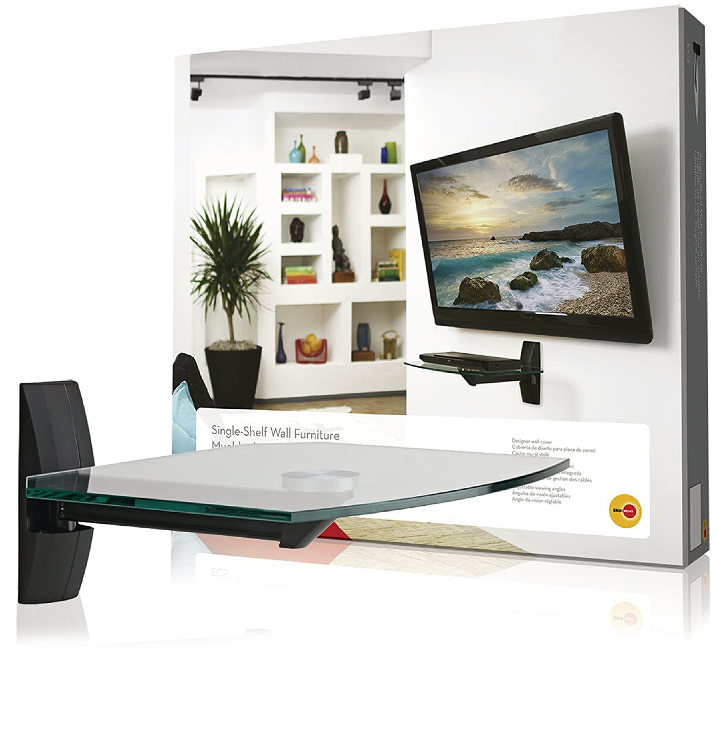 OmniMount ECSB Component Shelf Wall Shelf for TVs and Video Accessories