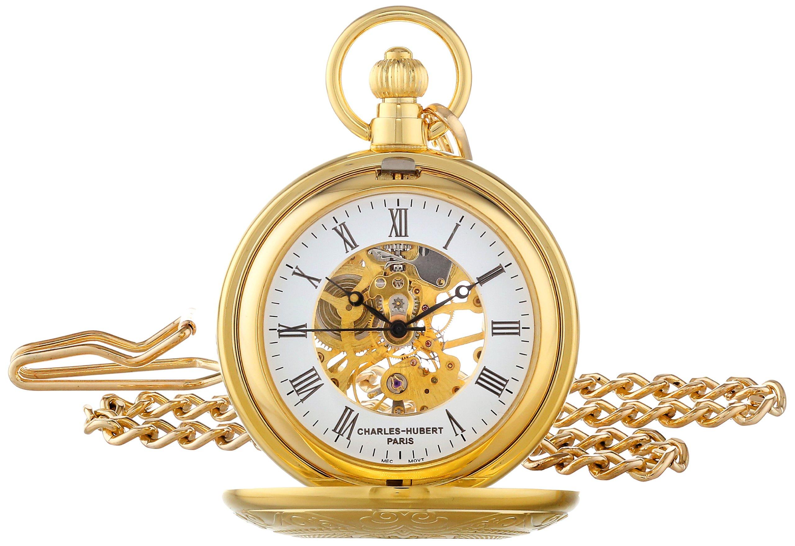Charles-Hubert, Paris Gold-Plated Mechanical Pocket Watch by CHARLES-HUBERT PARIS (Image #1)
