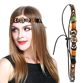 Amazon.com   Real Feather Hair Band d0a94a7a0eb