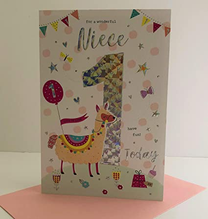 For A Special Niece On Your 1st Birthday Card Amazoncouk Kitchen Home