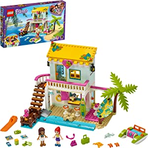 LEGO Friends Beach House 41428 Building Kit; Sparks Hours of Summer Adventure Play, New 2020 (444 Pieces)