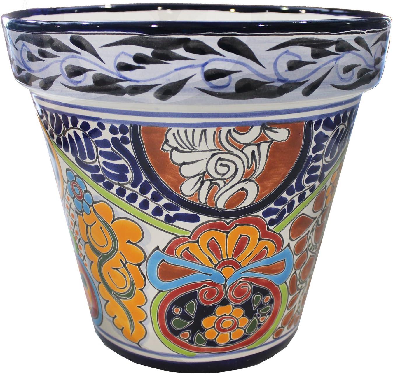 Tierra Fina Talavera Standard Pot – 10.50 Diameter x 10 High