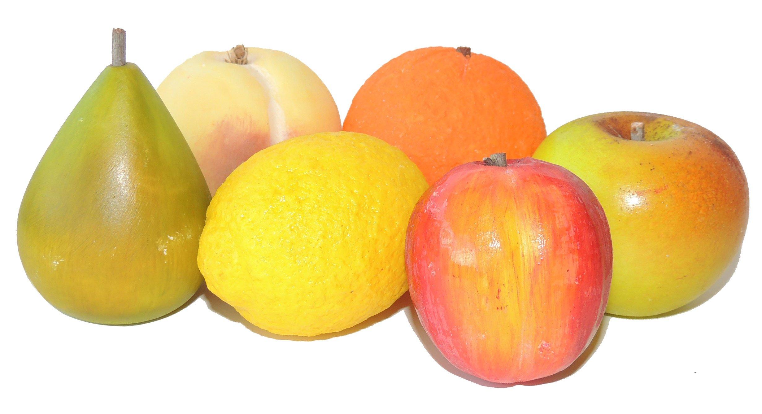 Italian Alabaster Fruit - Set of 6 by Italian Volterra Alabaster