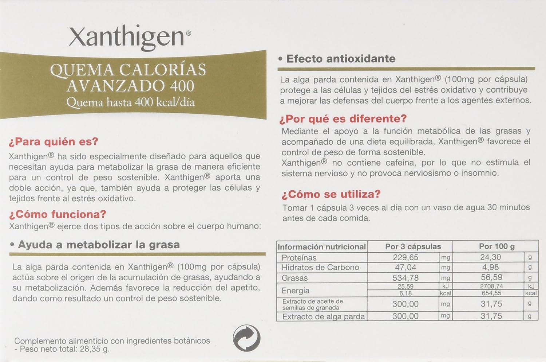XLS Xanthigen 400 Kcal - 90 cáps - Quema 400 kcalorías al día y aporta un efecto extra de belleza y antienvejecimiento