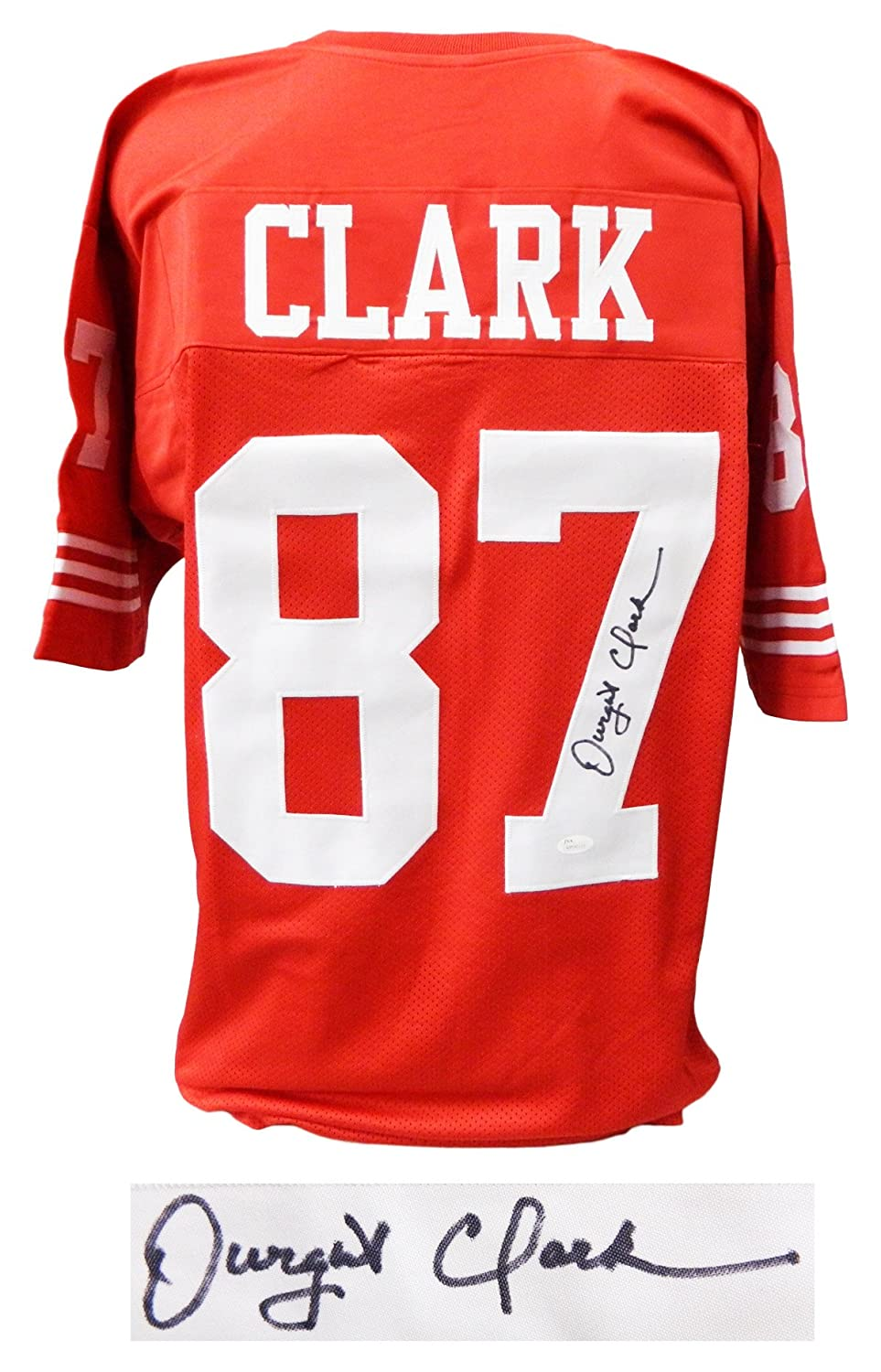 Dwight Clark Signed Red Throwback Custom Football Jersey (JSA) at Amazon's  Sports Collectibles Store