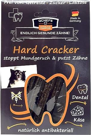 Qchefs Hard Cracker Hunde Zahnpflege Snack Kauknochen Welpen Klein Zum Kauen Spiel Gegen Mundgeruch Zahnfleischentzundung Zahnstein Leckerli Huttenkase Naturlich Antibakteriell Amazon De Haustier