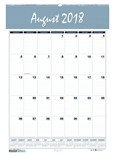 house of doolittle 2018 2019 monthly wall calendar academic bar harbor 155