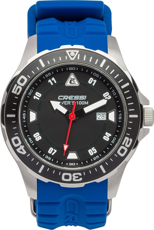 Cressi Manta - Reloj Submarino Profesional 10 ATM con Mecanismo de Cuarzo