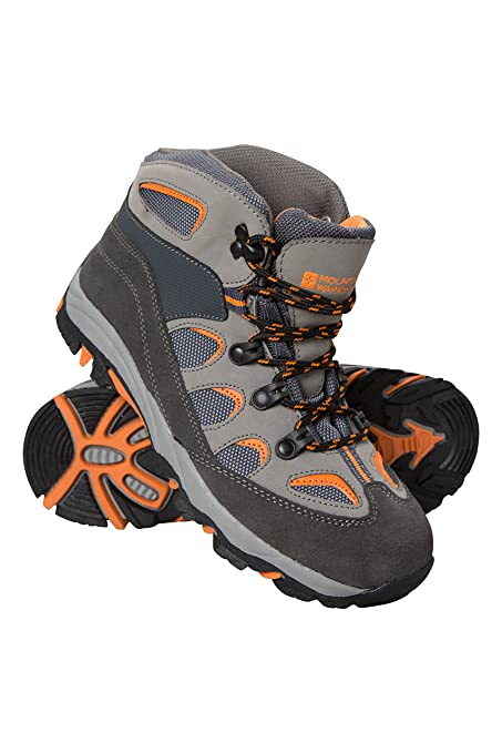 50c0acd549b Mountain Warehouse Oscar Kids Walking Boots – Suede Children's Running  Shoes, Sturdy Grip, Padded Ankles Summershoes, Strong Outsole, Soft Walking  ...