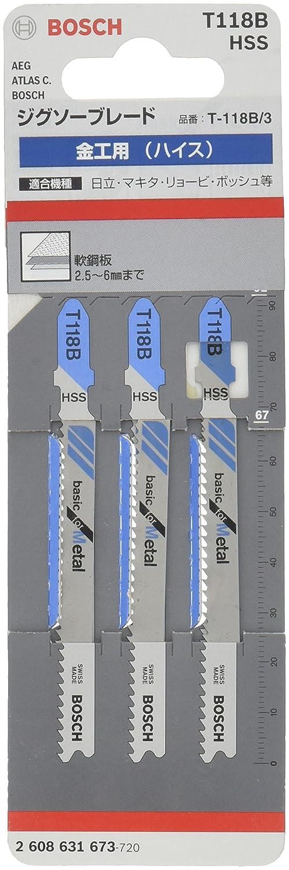 Bosch 2608631673 Lot de 3 lames pour scie sauteuse T 118 B