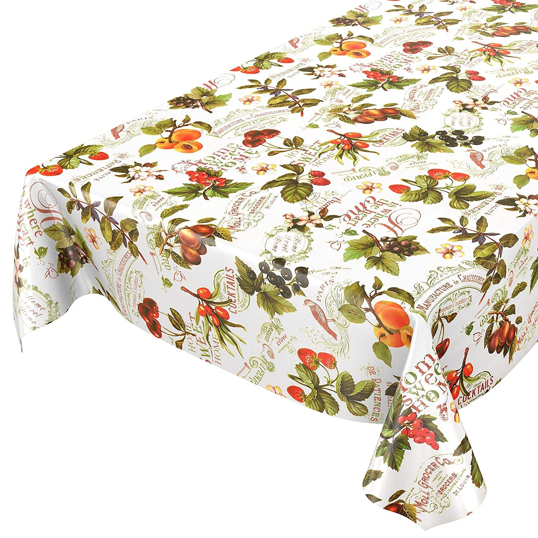 100 cm Rund 100cm multicolore Tovaglia rotonda asciugamani cerata con disegno di bacche