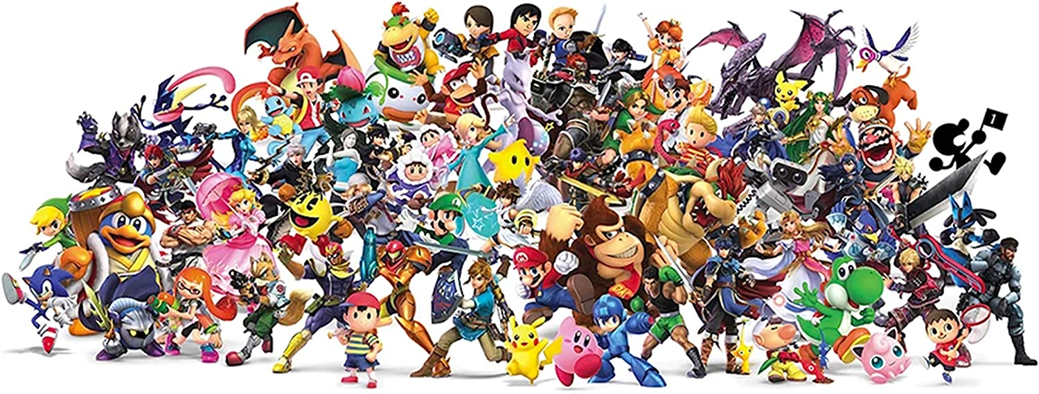 Super Smash Bros Ultimate Gaming Large Poster Art Print Gift A0 A1 A2 A3 Maxi