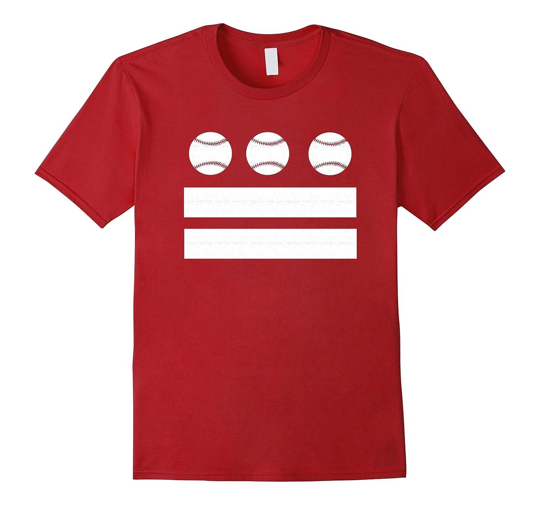 Washington DC Baseball T-Shirt - DC Baseball Flag Tee-Art