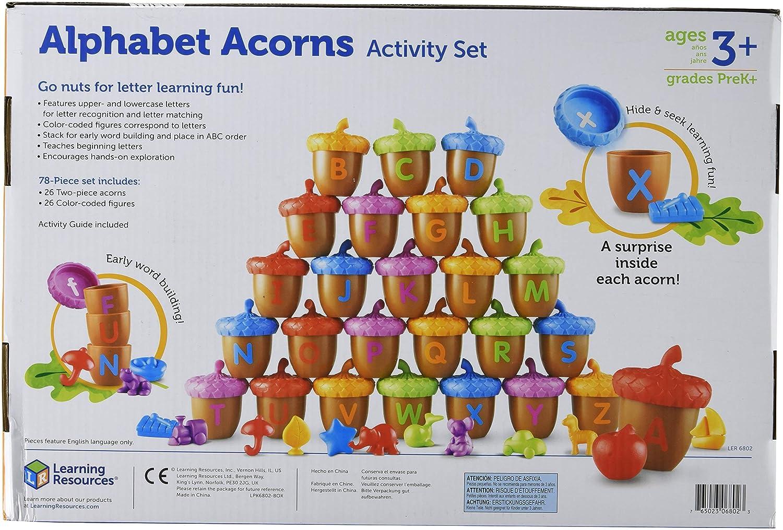 Learning Resources Alphabet Acorns Activity Set 78 Pieces LER6802