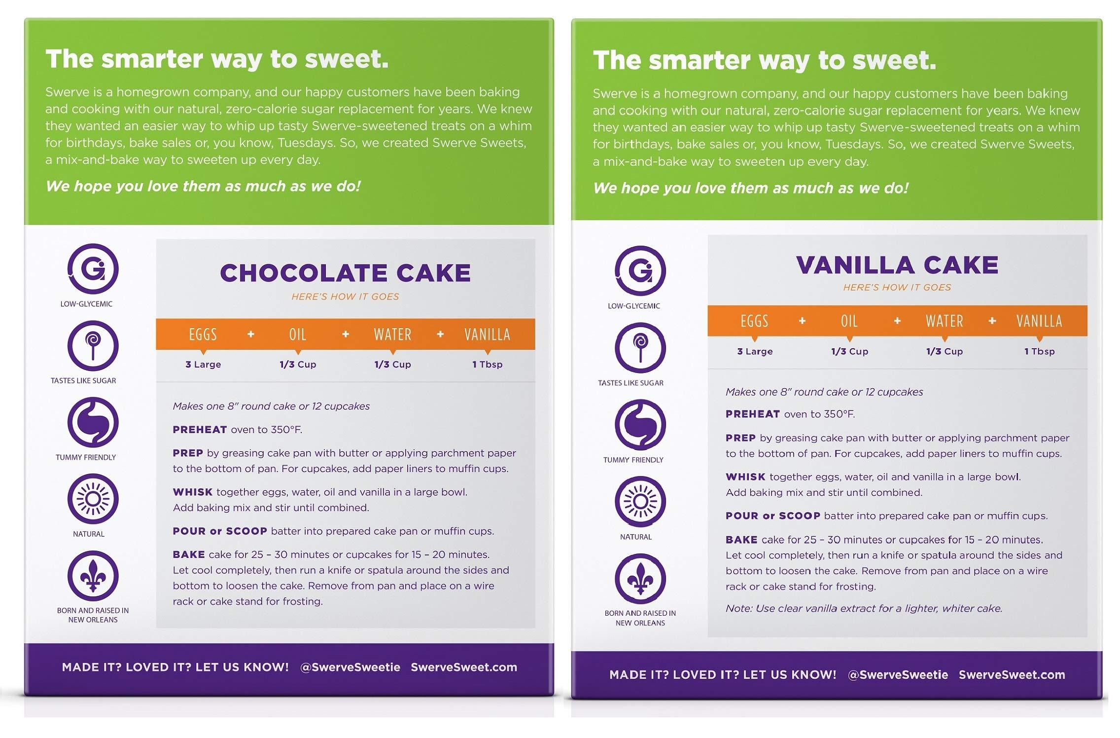 Swerve Sweets, Cake Mix Bundle, Chocolate and Vanilla Cake Mixes by Swerve (Image #2)