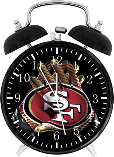 49ers Twin Bells Alarm Desk Clock 4 Home Office Decor F126 Nice for Gifts