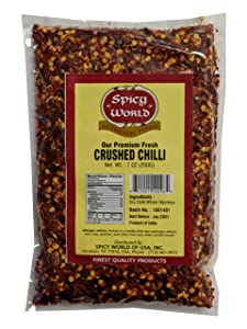 Crushed Red Pepper Flakes 7 Ounce Bag - Chili Flakes - by Spicy World