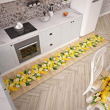 Petti Artigiani Italiani Passatoia Per Cucina Multicolore Lemon 52x180 Cm Amazon It Casa E Cucina