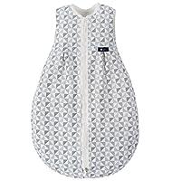 Alvi Baby Mäxchen Light - Leichter Sommer-Schlafsack ohne Arm / ungefüttert / Birnenform, 100% Baumwolle, Öko-Tex 100 zertifiziert - Silber Grau