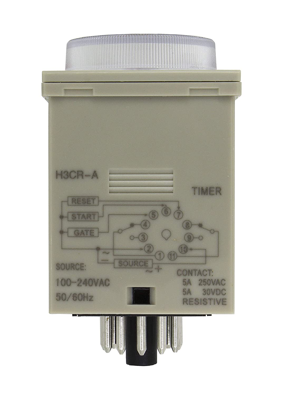 H3CR-A 11 pin on delay DPDT time relay H3CR delay timer  AC 100-240V DC 12V 24V