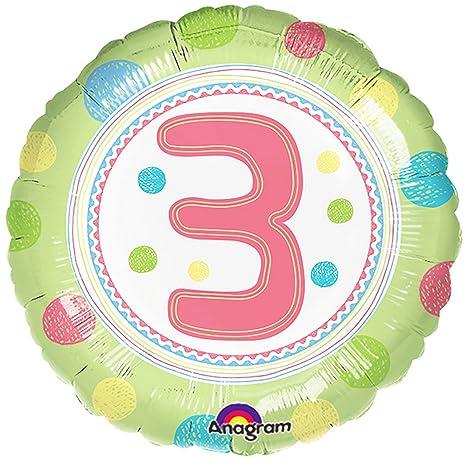 Anagram - Globo redondo para cumpleaños con número (2 años ...
