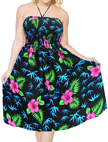 e3195b1e7542 Swimsuit Beach wear Swimwear Dress Cover up Maxi Halter Neck Short Tube  Black