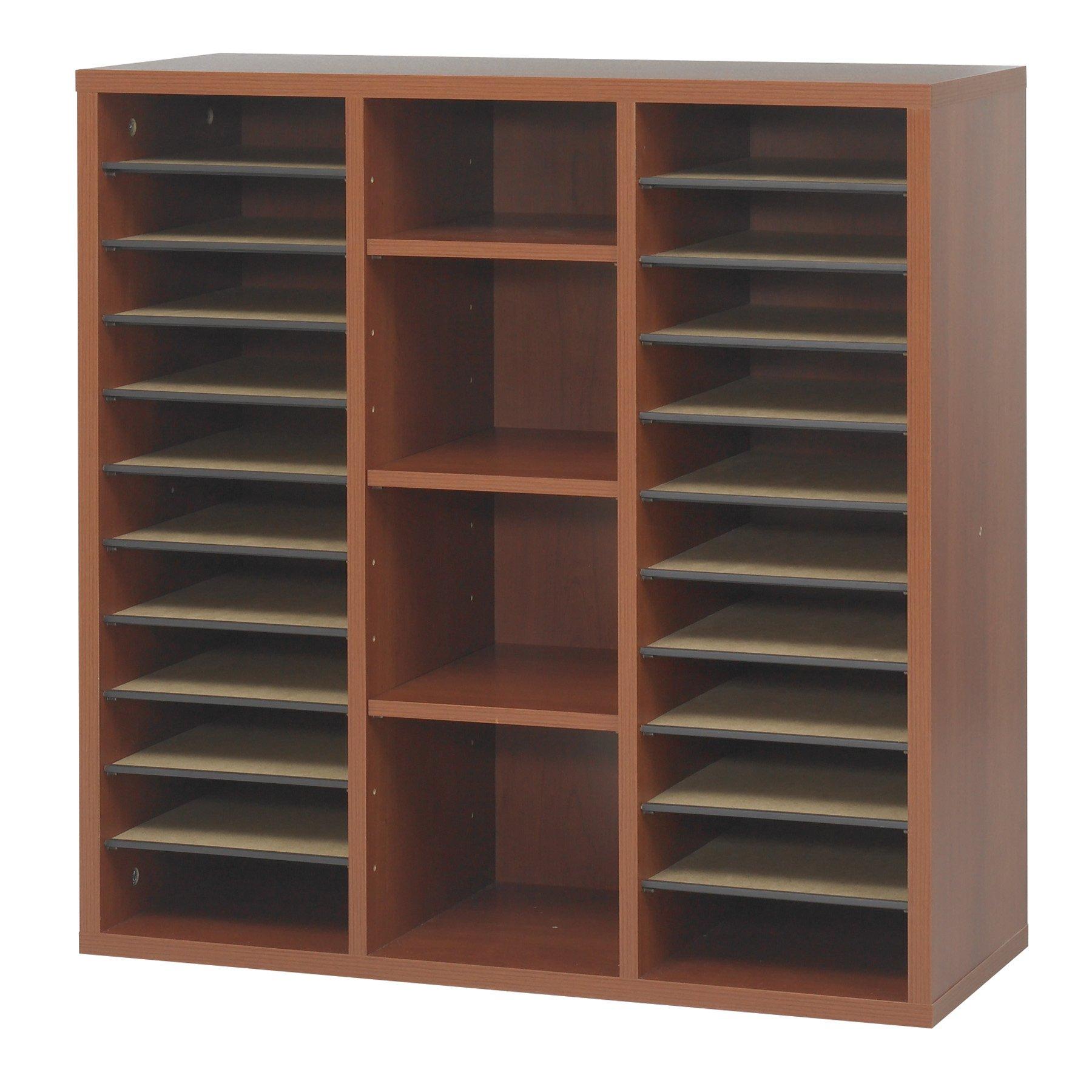 Safco Products 9441CY Apres Modular Storage Literature Organizer, Cherry