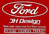 JH Design Men's Ford Mustang T-Shirt 5.0 Red Short