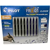 8 Pack FriXion Ball Clicker 0.7mm Nib The Erasable Retractable Pen Blue And Black Office School