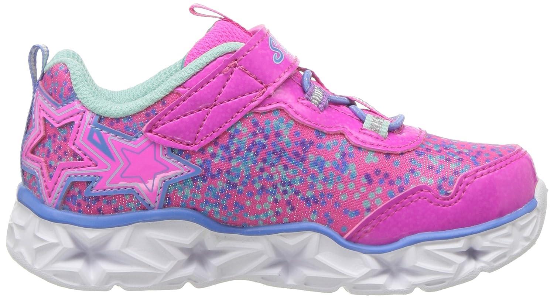 Skechers Kids' Galaxy Lights Sneaker,Neon PinkMulti,9
