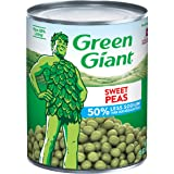 Green Giant 50% Less Sodium Sweet Peas, 15 Ounce Can (Pack of 12)