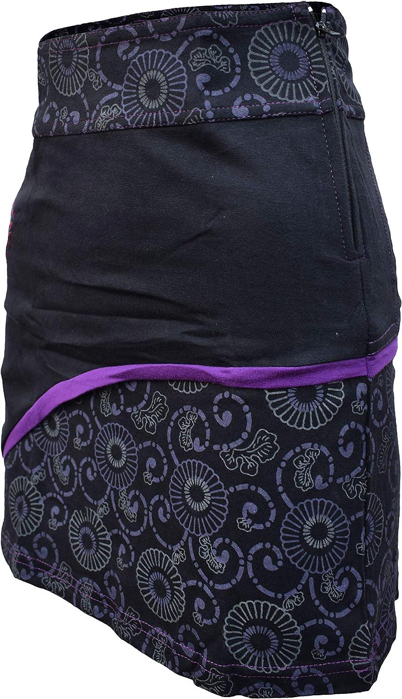 Minifalda para mujer con bordado de c/írculo Gheri