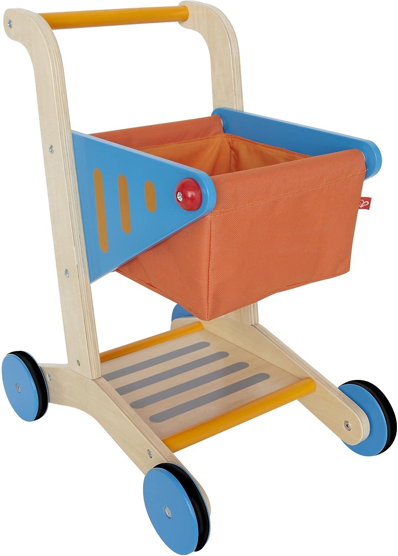 Award Winning Hape Kid's Wooden Shopping Cart E3123