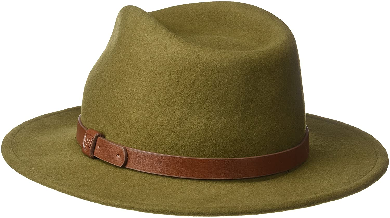 4e07c5b2e3babc Brixton Men's Messer Fedora Hat, Light Olive, X-Large: Amazon.ca: Clothing  & Accessories