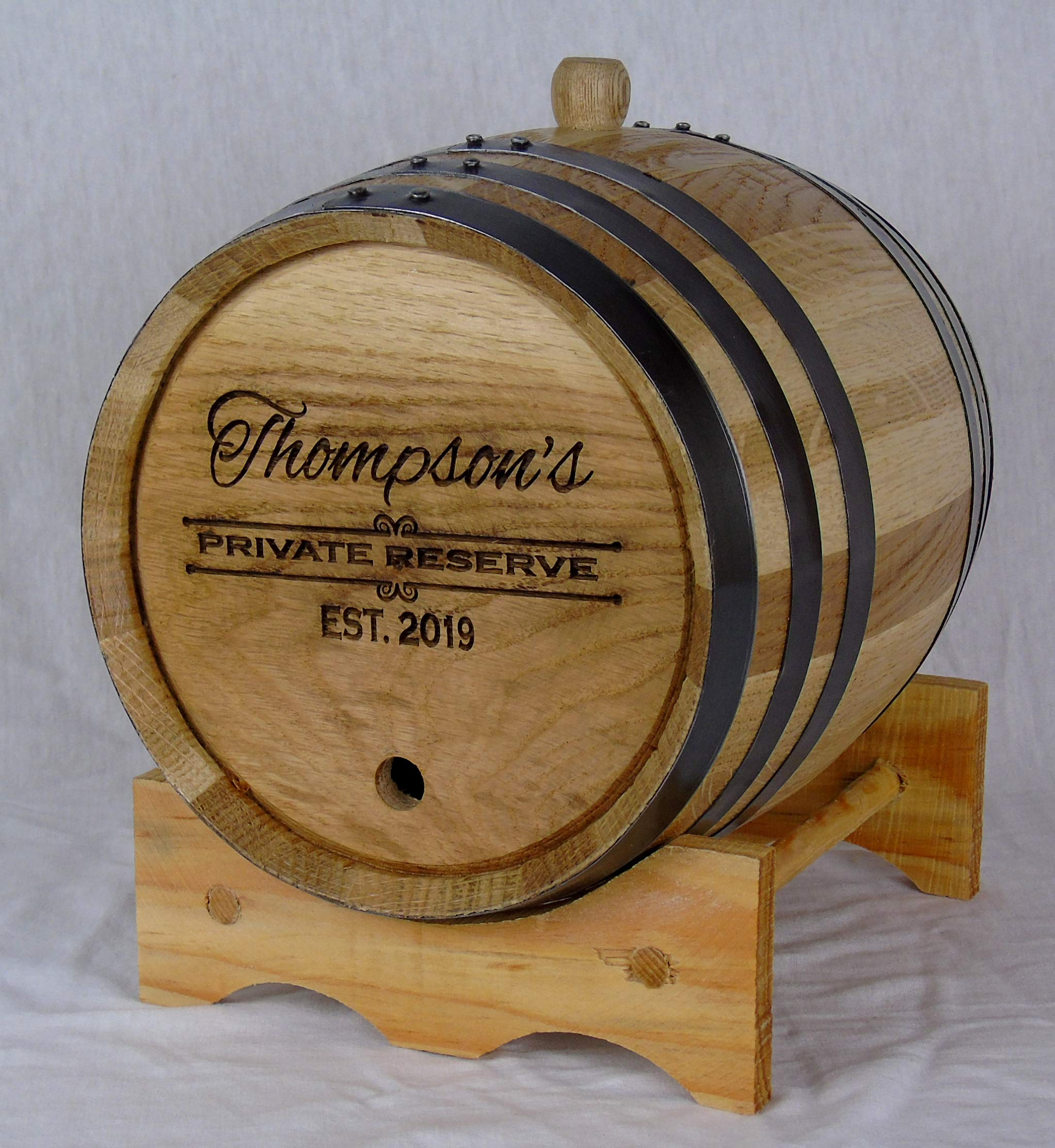 Personalized Engraved White American Oak Aging Barrels RHB156 (3 Liter)
