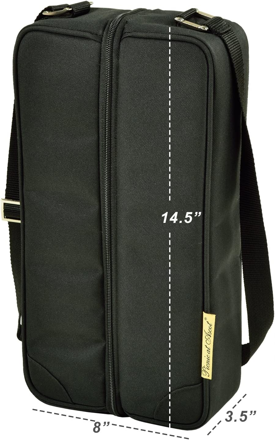 Napkins and Corkscrew Picnic at Ascot Insulated Wine Tote with 2 Wine Glasses Designed /& Assembled in the USA
