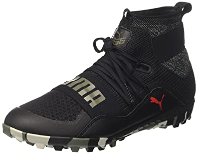 Puma 365.18 Ignite St, Chaussures de Football Homme, Noir Black-Flame Scarlet-Castor Gray, 43 EU