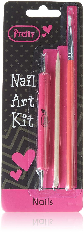 Pretty Kit Arte de Uñ as con decoració n de uñ as herramienta/cepillo/cutí culas Stick Quest Personal Care Global Ltd 72948-030