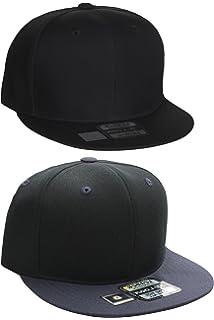 85f84db04cc Classic Snapback Hat Blank Cap - Wool Blend Flat Visor (Adjustable ...