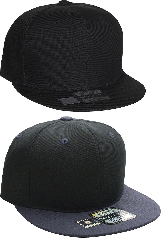 Amazon.com  L.O.G.A Plain Flat Bill Visor Blank Snapback Hat Cap ... 2602f118486