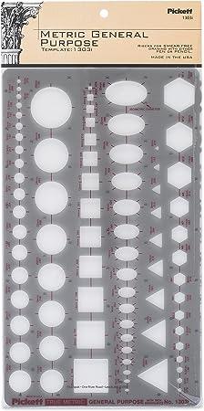 CHARTPAK 1085I PICKETT POCKET TEMPLATE