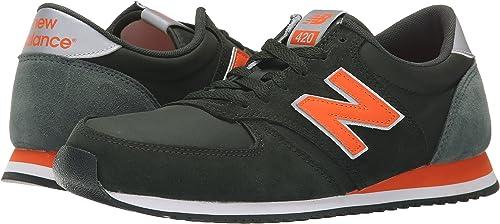New Balance Zapatillas U420 Negro/Naranja EU 36 (US 4): Amazon.es: Zapatos y complementos