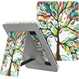 MoKo Case Fits All-New Kindle (10th Generation - 2019 Release Only), Slim PU Leather Stand Smart Cover Shell with Hand Strap, Will Not Fit Kindle Paperwhite 10th Generation 2018 - Lucky Tree