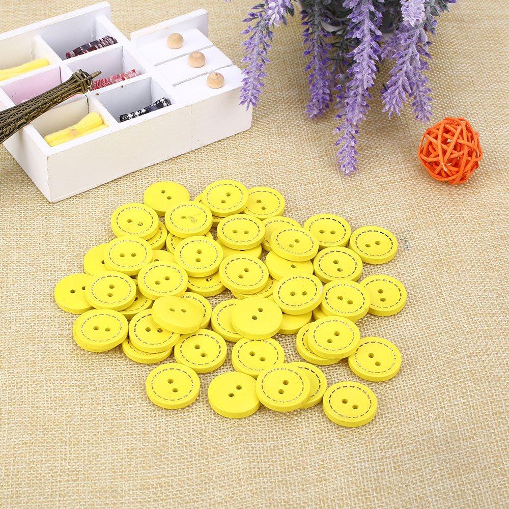 pacchetto Vintage rotonda Button in legno Forniture per cucire DIY dei bambini scrapbook Baby Knitting vestiti con fibbia Rosepoem 50Pcs