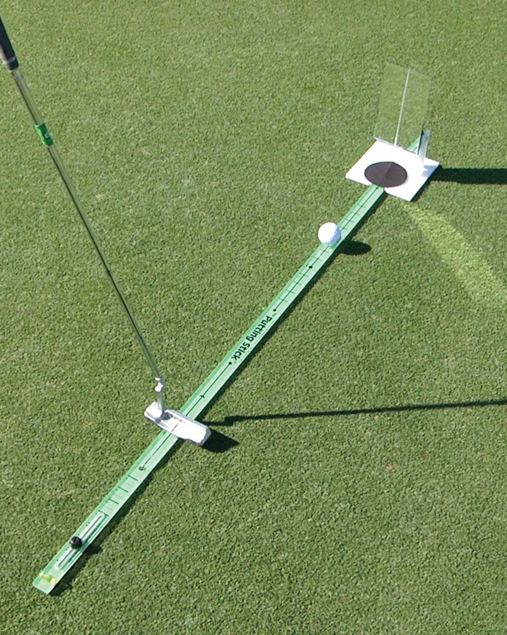 TPK Golf Training Aids: 'Putting Stick'; Golf Swing Trainer for Putting Green Eyeline Alignment and Putt Speed by TPK
