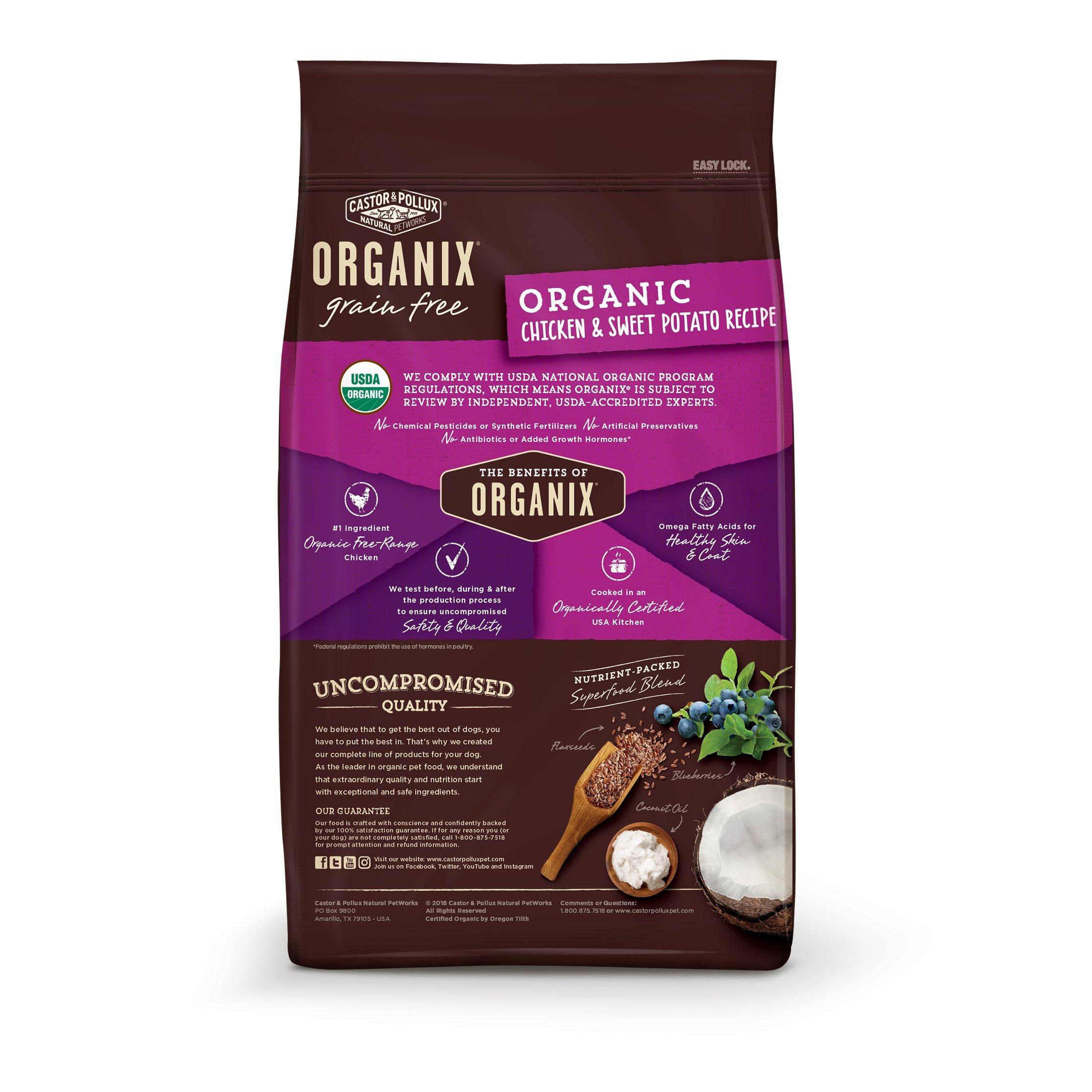 Castor & Pollux Organix Grain Free Organic Chicken & Sweet Potato Recipe Dry Dog Food 18Lbs by Castor & Pollux (Image #2)