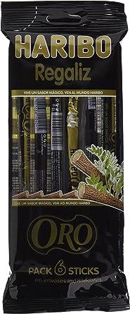 Haribo Regaliz Oro Multipack Dulces de Regaliz - 108 gr - [Pack de 4]