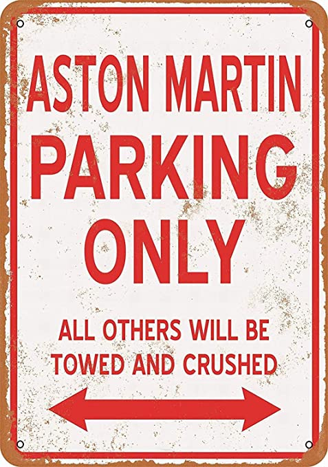Gift for DB 6 V8 DB6 VANTAGE 2 4 model owner ASTON MARTIN Car Parking Sign Made in UK All fixing included Size Large 205 x 270mm by Custom