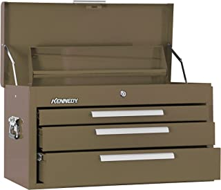 """product image for Kennedy Manufacturing 263B 26"""" 3-Drawer Mechanics' Chest with Tote Tray, Tan Brown Wrinkle"""